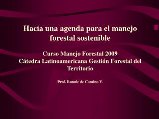 Hacia una agenda para el manejo forestal sostenible   Curso Manejo Forestal 2009 C tedra Latinoamericana Gesti n Foresta