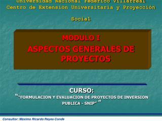 Universidad Nacional Federico Villarreal Centro de Extensi n Universitaria y Proyecci n Social
