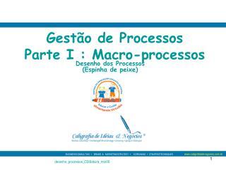 Gest o de Processos Parte I : Macro-processos