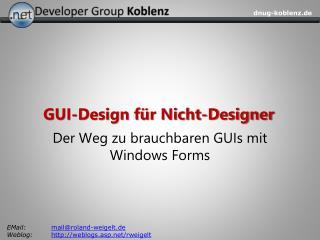GUI-Design f r Nicht-Designer