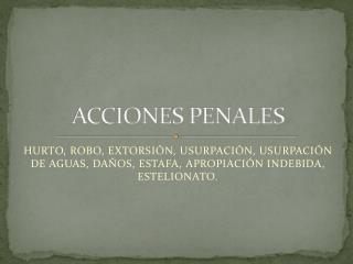 ACCIONES PENALES