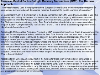 European Central Bank's Outright Monetary Transactions (OMT)