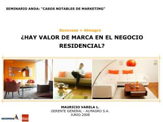 SEMINARIO ANDA:  CASOS NOTABLES DE MARKETING