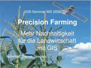 GIS-Seminar WS 2000