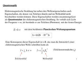 Quantenoptik