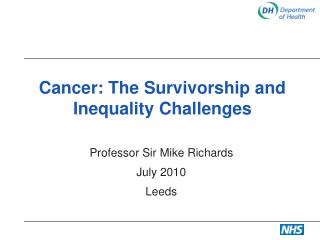 Cancer: The Survivorship and Inequality Challenges