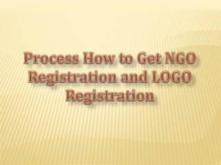 Process How to Get NGO Registration and LOGO Registration