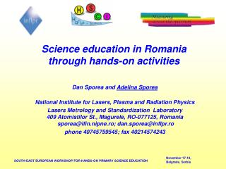 Science education in Romania through hands-on activities