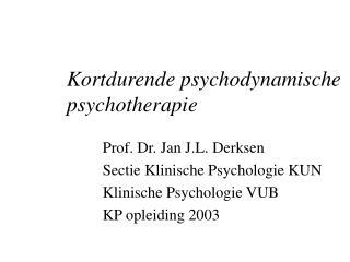 Kortdurende psychodynamische psychotherapie