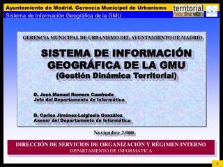 GERENCIA MUNICIPAL DE URBANISMO DEL AYUNTAMIENTO DE MADRID