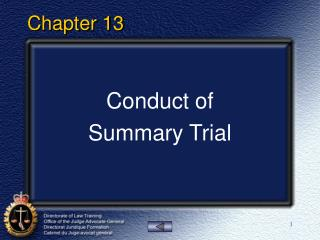 Lesson 7   Conduct of Summary Trial