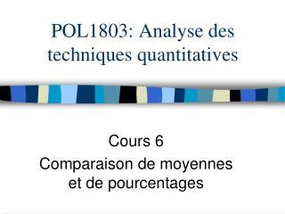 POL1803: Analyse des techniques quantitatives