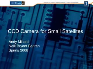 CCD Camera for Small Satellites