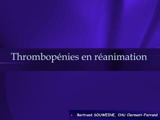 Thrombop nies en r animation
