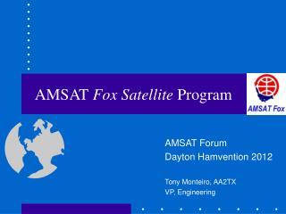 AMSAT Fox Satellite Program