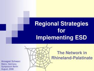 Regional Strategies for  Implementing ESD
