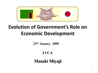 Evolution of Government s Role on  Economic Development