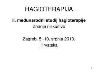 HAGIOTERAPIJA