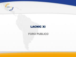 LACNIC XI
