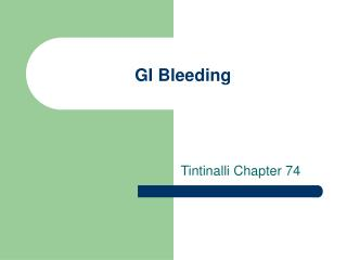 GI Bleeding