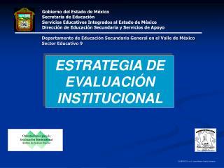 ESTRATEGIA DE EVALUACI N INSTITUCIONAL