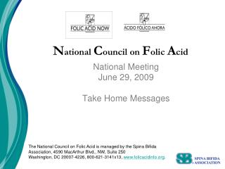 National Council on Folic Acid
