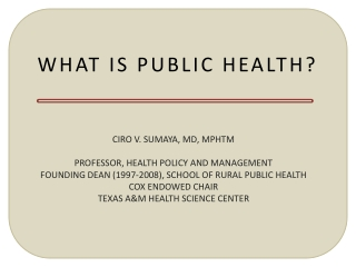 Ten Essential Public Health Services