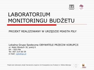 LABORATORIUM  MONITORINGU BUDZETU