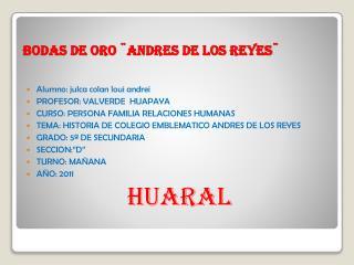 BODAS DE ORO  ANDRES DE LOS REYES