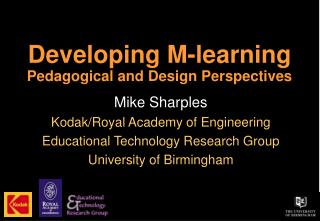 Developing M-learning  Pedagogical and Design Perspectives