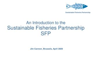 An Introduction to the Sustainable Fisheries Partnership SFP