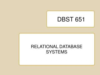 DBST 651