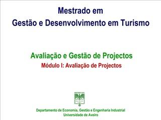 Mestrado em Gest o e Desenvolvimento em Turismo