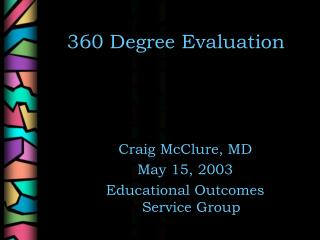 360 Degree Evaluation