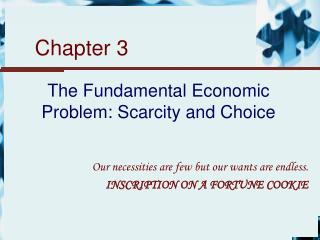 The Fundamental Economic Problem: Scarcity and Choice