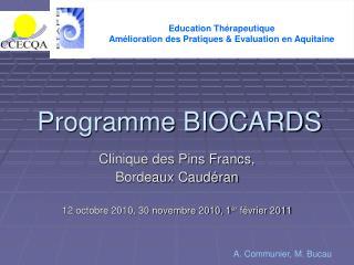 Programme BIOCARDS