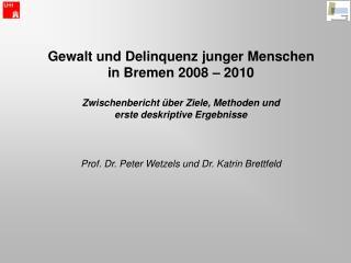 Gewalt und Delinquenz junger Menschen  in Bremen 2008   2010  Zwischenbericht  ber Ziele, Methoden und  erste deskriptiv