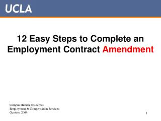 12 Easy Steps to Complete an Employment Contract Amendment