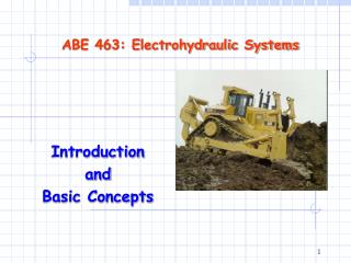 ABE 463: Electrohydraulic Systems