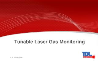 Tunable Laser Gas Monitoring