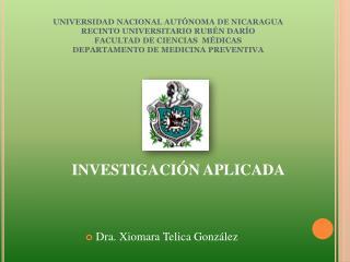 Dra. Xiomara Telica Gonz lez