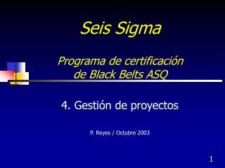 Seis Sigma   Programa de certificaci n  de Black Belts ASQ