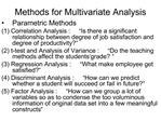 Methods for Multivariate Analysis