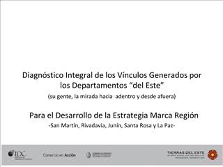 Diagn stico Integral de los V nculos Generados por los Departamentos  del Este