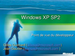 Windows XP SP2