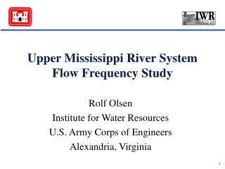 Upper Mississippi River System Flow Frequency Study