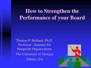 How to Strengthen the Performance of your Board