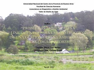 PROBLEMAS AMBIENTALES Y LINEAMIENTOS PARA LA CONSTRUCCI N DE UNA GESTI N URBANA AMBIENTAL EN SIERRA DE LOS PADRES