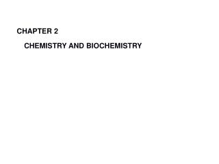 CHEMISTRY for BIOLOGY