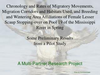 Chronology and Rates of Migratory Movements